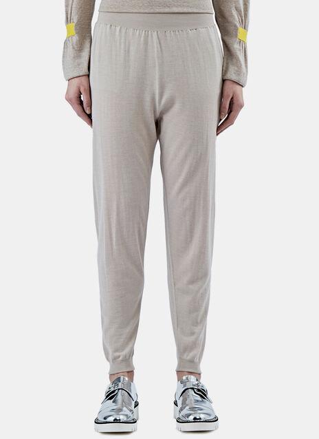 Wool-Blend Track Pants