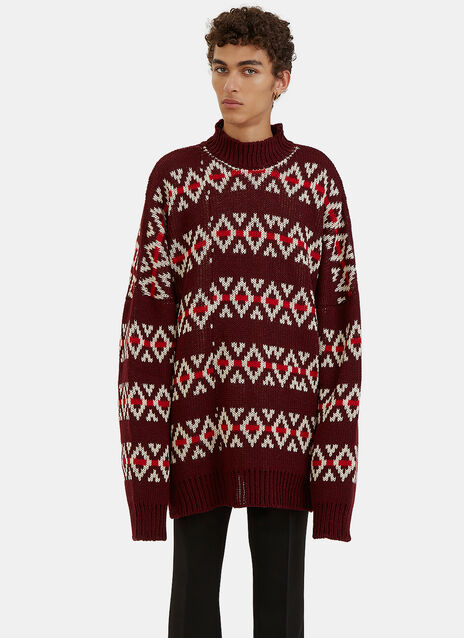 Oversized Jacquard Sweater