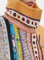 Oversized Matelassé Silk Patterned Coat