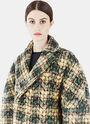 Gwen Tweed Quilted Zigzag Coat