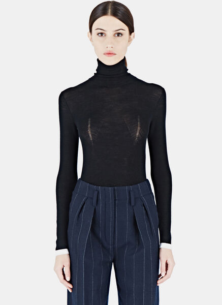 Lanvin Roll Neck Knitted Top