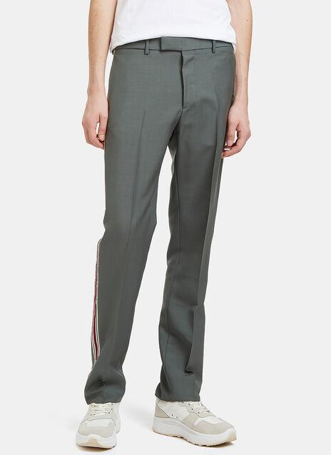 Striped Seam Slim Leg Pants