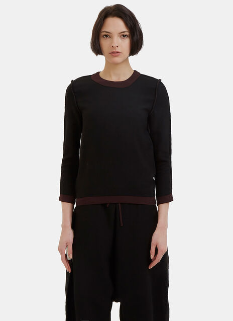Reversible Round Neck Sweater
