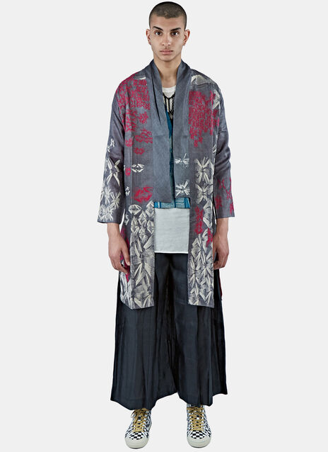 Silk Long Embroidered Tibetan Jacket