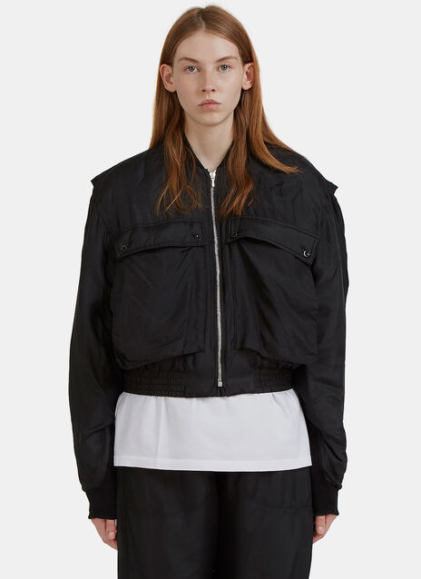 Silk Padded Bomber Jacket
