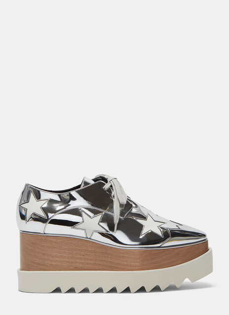 Elyse Hackney Metallic Star Platform Shoes