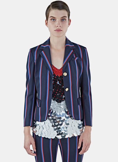 Dandridge Striped Cropped Blazer