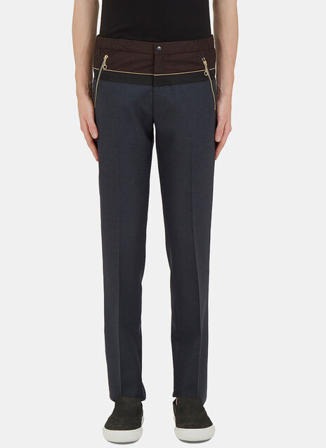 Contrast Panelled Waistband Pants