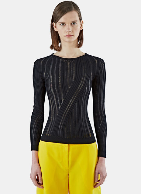 Marcy Mouliné Ribbed Sweater