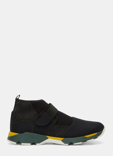 Mid-Top Contrast Panelled Sneakers