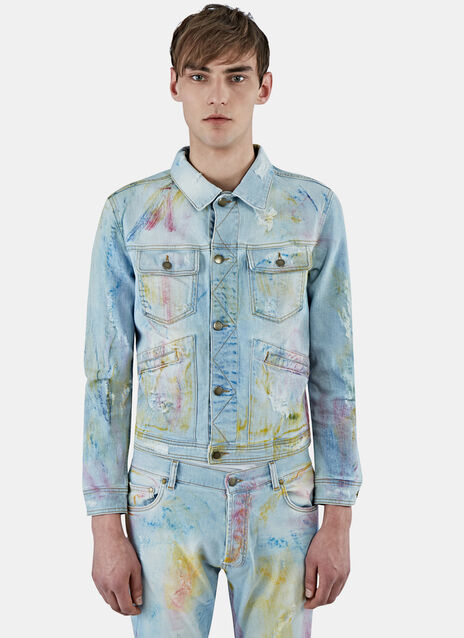Watercolour Washed Denim Jacket