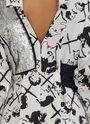 Face Print Sequin Shirt Dress