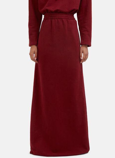 Long Printed Jersey Maxi Skirt