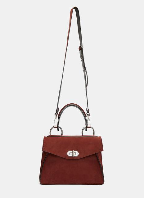 Small Hava Nubuck Top Handle Handbag