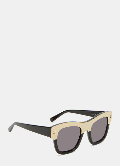 Metallic Top Frame Sunglasses