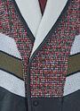 Oversized Tweed Knit Leather Bomber Jacket