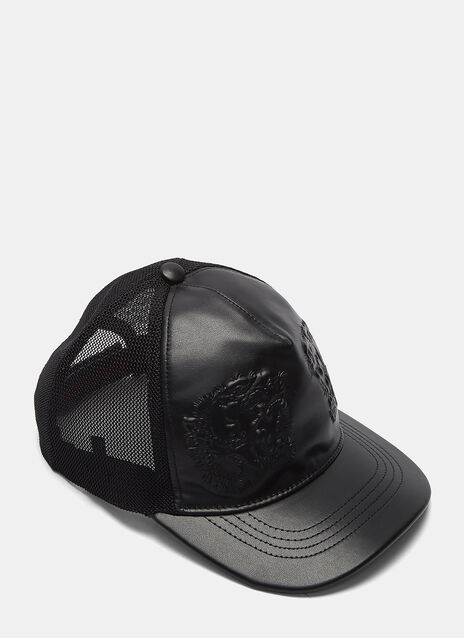 Leather Embossed Tiger Cap