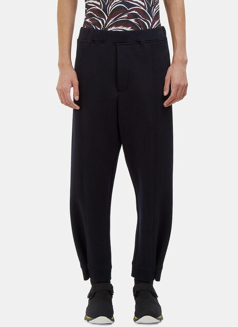 Buttoned Cuff Jersey Pants