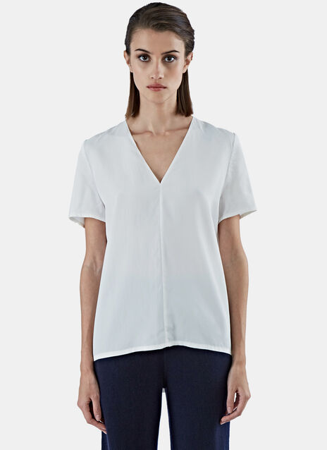 Short Sleeved Silk Blend T-Shirt