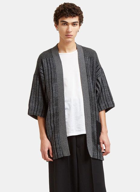Mixed Yarn Knitted Noragi Cardigan
