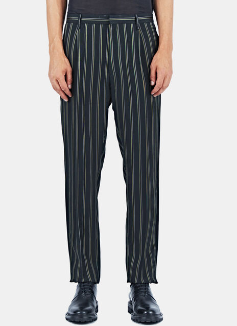 One Pleat Striped Pants