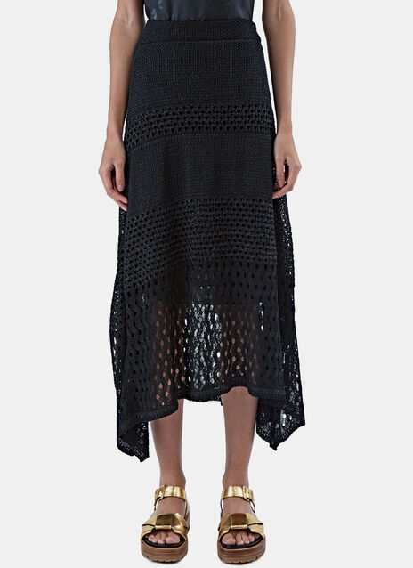 Long Open Stitch Skirt