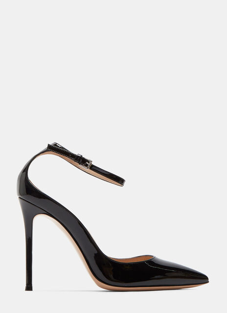 Gia Patent Stiletto Heeled Pumps