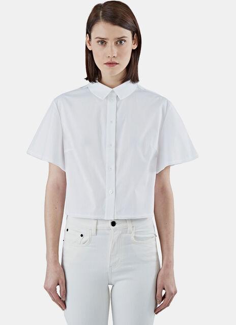 Cropped Poplin Shirt