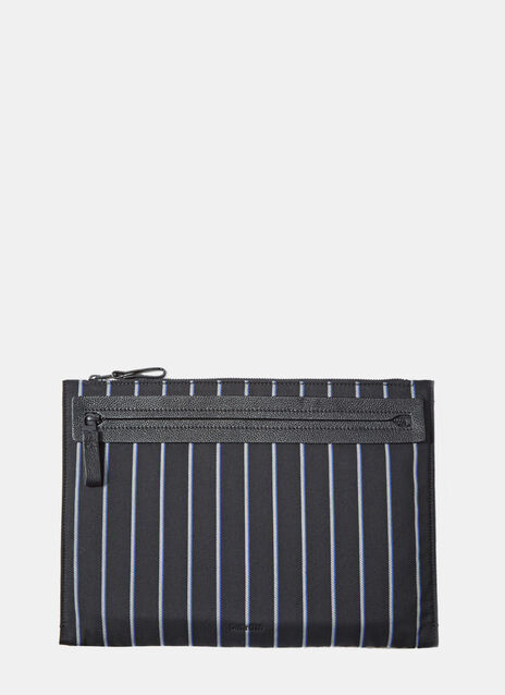 Striped Rectangular Clutch Bag