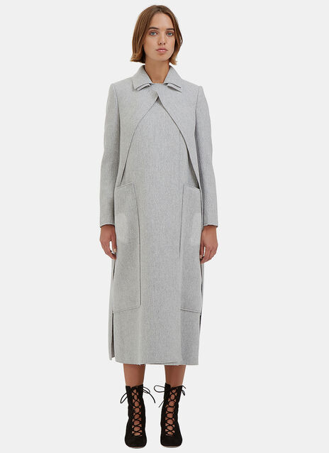 Long Asymmetric Layered Coat