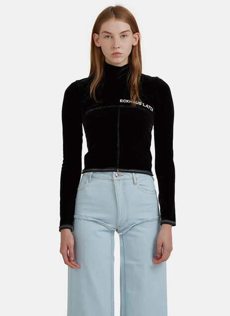Velvet Lapped Branded Sweater