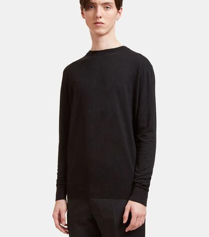 AIEZEN Cashmere and Silk Knit T-shirt