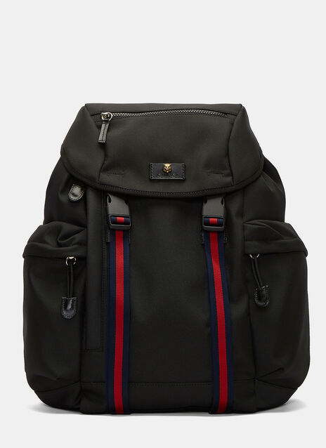 Zaino Striped Webbing Strapped Backpack