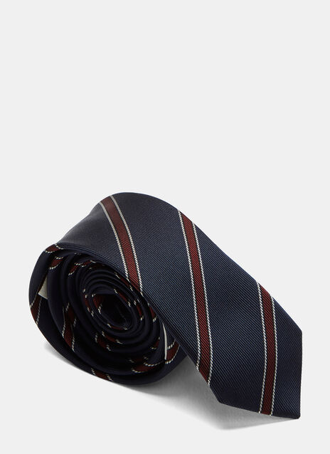 Slim Harvard Striped Tie