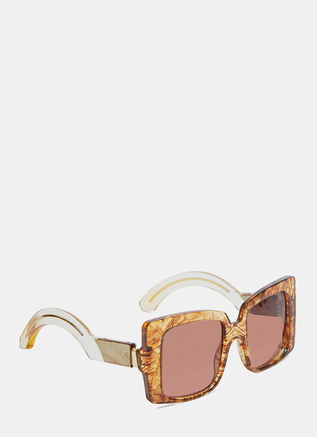 JACQUES MARIE MAGE LIANE SUNGLASSES IN BROWN MARBEL PATTERN