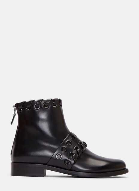 Loop Threaded Ankle Boots
