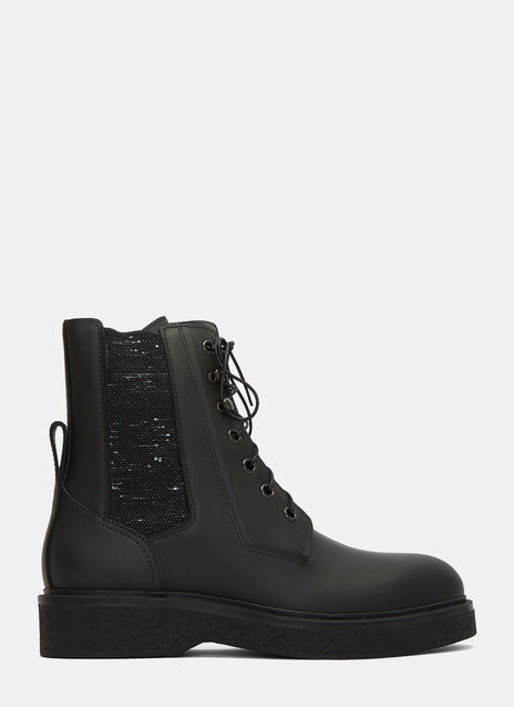 Chunky Lace-Up Ankle Boots