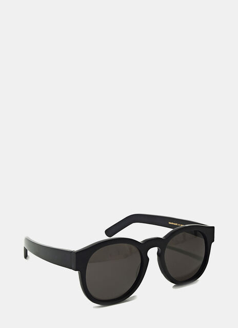 Larke Unisex Gill Matt Black Sunglasses