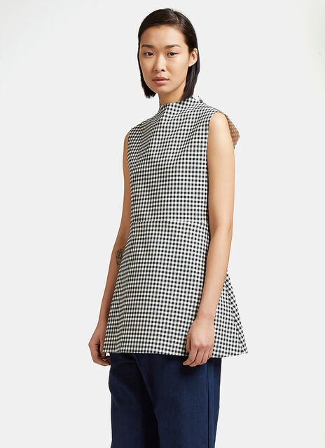 Jellychess Long Gingham Top