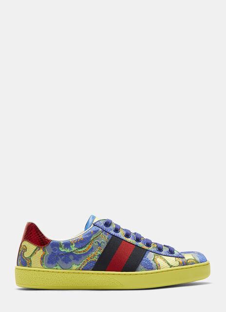 Metallic Jacquard Sneakers