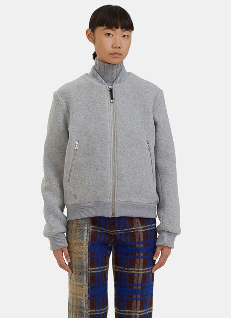 Azura Blanket Wool Bomber Jacket