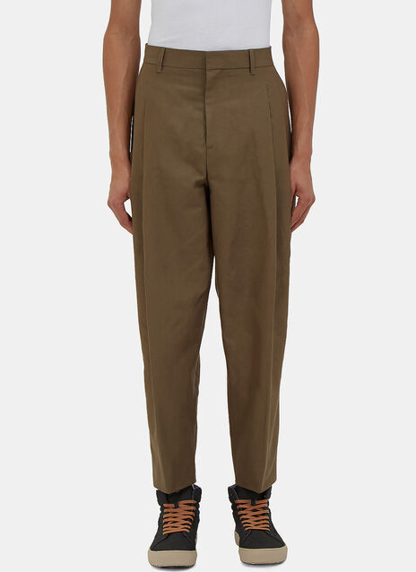 Piano Pleated Linen Pants