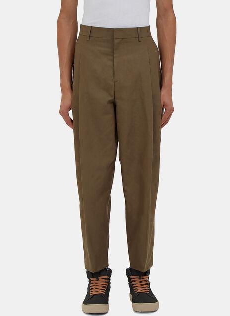 Piano Pleated Linen Pants