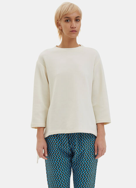 Oversized Asymmetric Draped Sweater