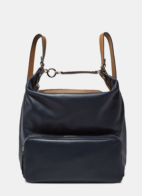Leather Pocket Backpack