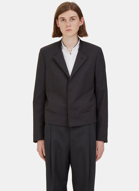 Short Deconstructed Blazer Jacket