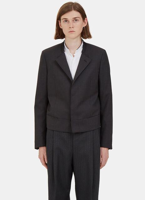 Short Deconstructed Blazer Jacket