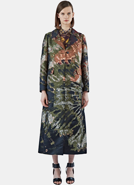 Long Metallic Brocade Coat