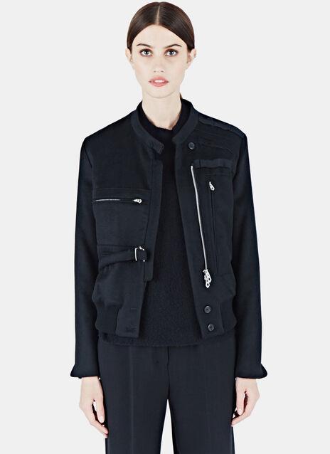 Military-Style Cashmere Jacket