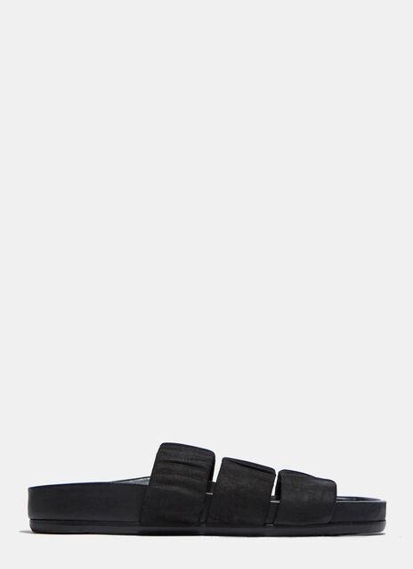 Elastic Three-Strap Sandals